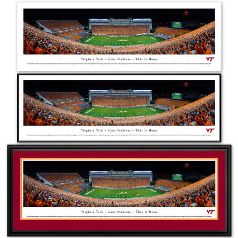 Virginia Tech Lane Stadium Orange Effect Panoramic Print