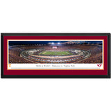 Virginia Tech Battle at Bristol 2016 Panoramic Print Deluxe Frame