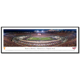 Virginia Tech Battle at Bristol 2016 Panoramic Print Standard Frame