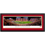 Virginia Tech Lane Stadium Hokie Effect Panoramic Print Deluxe Frame