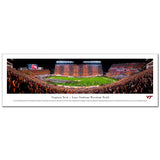 Virginia Tech Lane Stadium Hokie Effect Panoramic Print Unframed