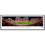 Virginia Tech Lane Stadium Hokie Effect Panoramic Print Standard Frame