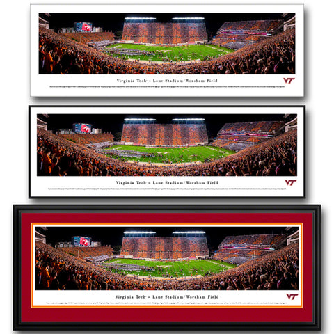 Virginia Tech Lane Stadium Hokie Effect Panoramic Print