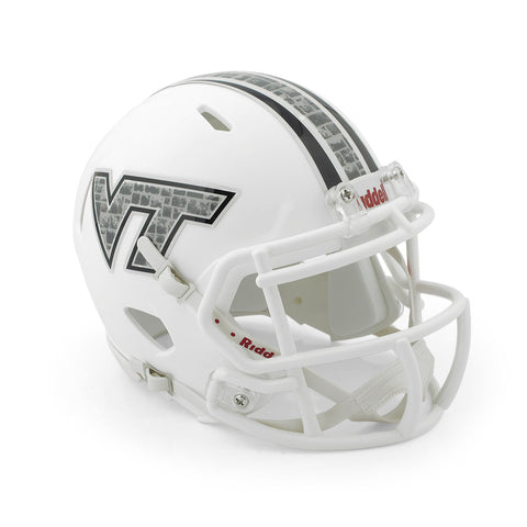 Virginia Tech Hokie Stone Mini Replica Helmet: White by Riddell