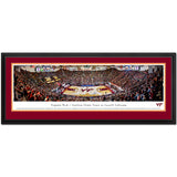Virginia Tech Cassell Coliseum Panoramic Print Deluxe Frame