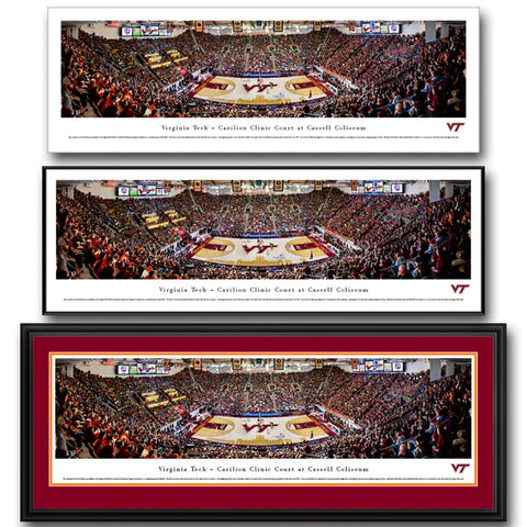 Virginia Tech Cassell Coliseum Panoramic Print