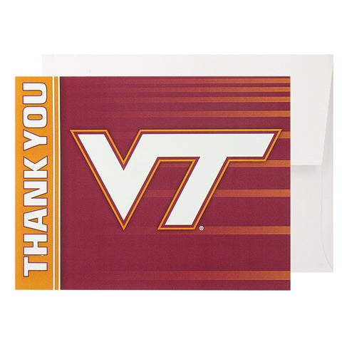 Virginia Tech Thank You VT Cards: Pack of 10