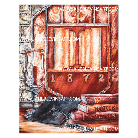 "Virginia Tech ""Hokie Hy"" Print by Jane Blevins"