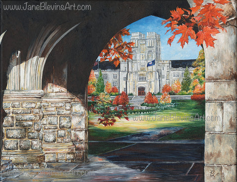 "Virginia Tech ""Spirit of the Stone"" Print by Jane Blevins"