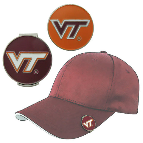 Virginia Tech Ball Markers with Hat Clip