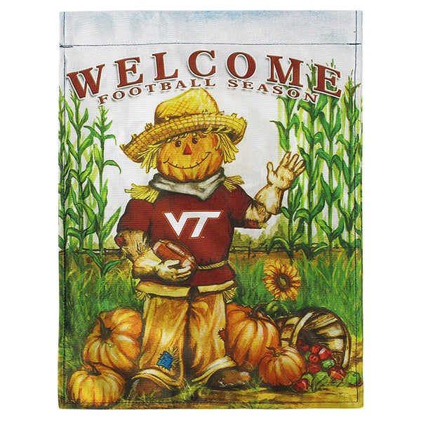 Virginia Tech Fall Football Season Garden Flag Campus