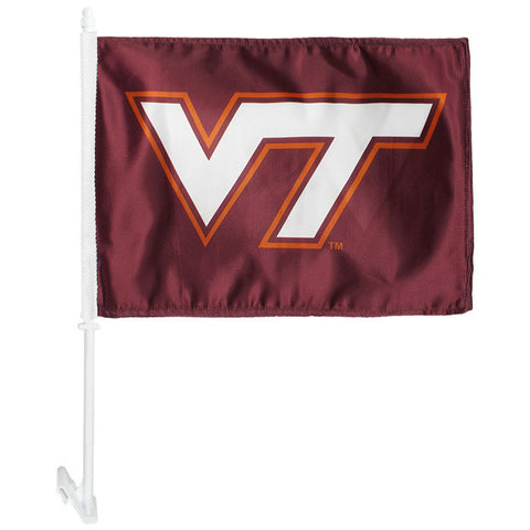 Virginia Tech Double Sided Car Flag
