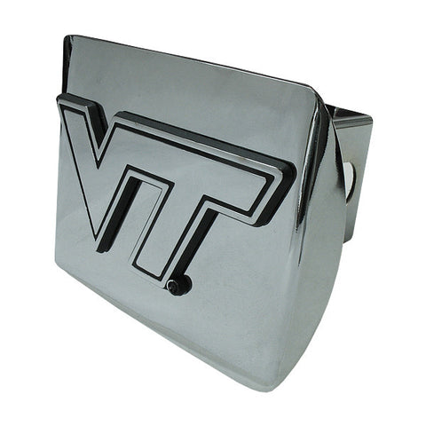 Virginia Tech Hitch Cover: Chrome on Chrome