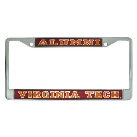 Virginia Tech Alumni Reflective License Plate Frame