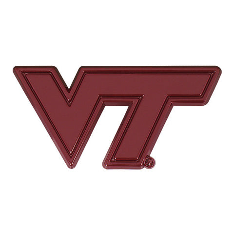 Virginia Tech Car Emblem: Maroon