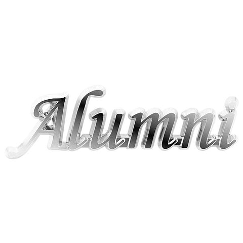 Alumni Car Emblem: Chrome
