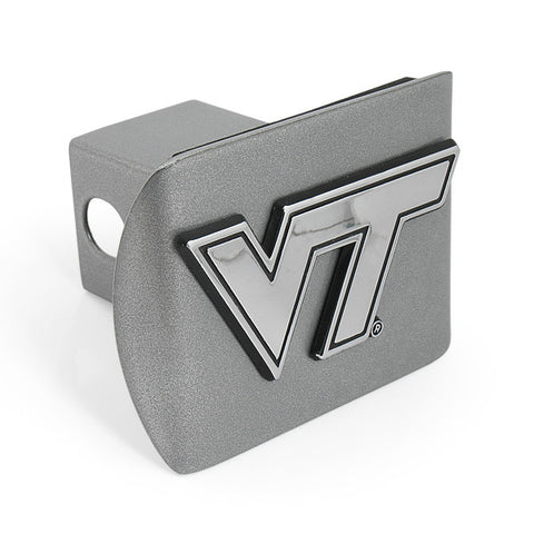 Virginia Tech Hitch Cover: Brushed Chrome
