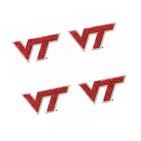 Virginia Tech Glitter Face Tattoos