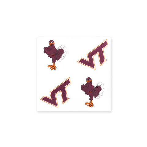 Virginia Tech and Hokie Bird Face Tattoos
