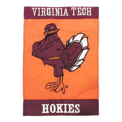 Virginia Tech Hokie Bird Applique Garden Flag