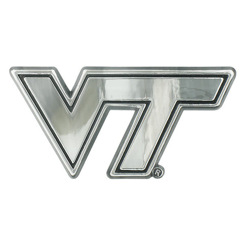 Virginia Tech Car Emblem: Chrome