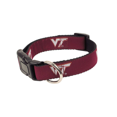 Virginia Tech Fabric Dog Collar