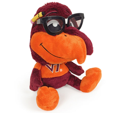 Virginia Tech Hokie Bird Study Buddy Plush with Glasses