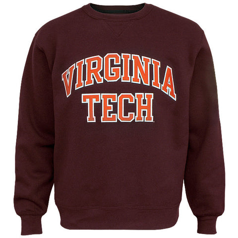 Virginia Tech Embroidered Twill Crew Sweatshirt: Maroon by Gear