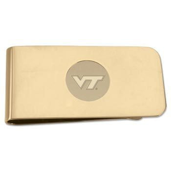 Virginia Tech Money Clip: Gold