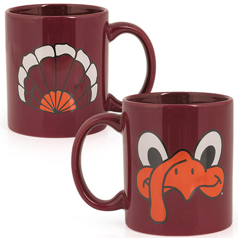 Virginia Tech Hokie Face and Tailfeathers Mug