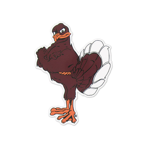 Virginia Tech Hokie Bird Decal: Maroon