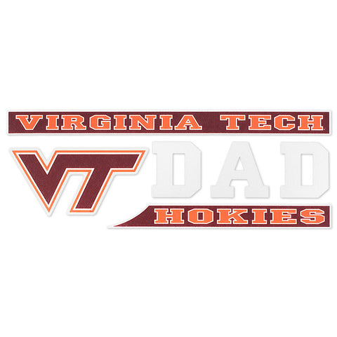 Virginia Tech Hokies Dad Decal