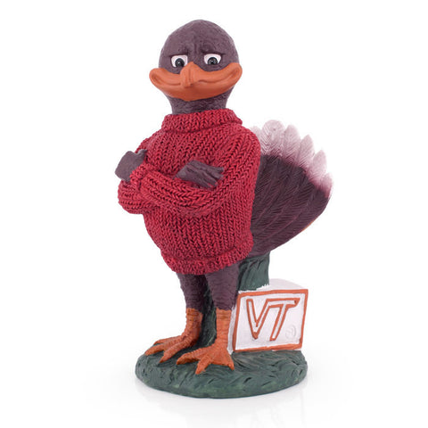 Virginia Tech Painted Hokie Bird Statue: 9""