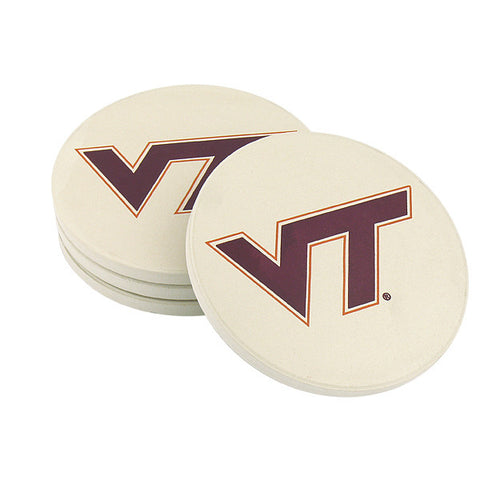 Virginia Tech Stone Coasters
