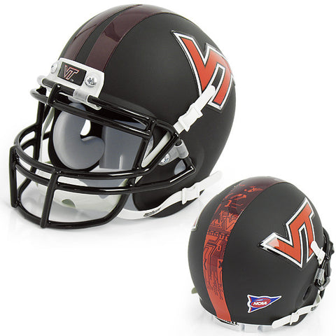 Virginia Tech Mini Replica Helmet: Black by Schutt