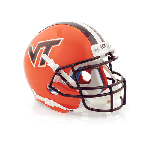 Virginia Tech Mini Replica Helmet: Orange by Schutt