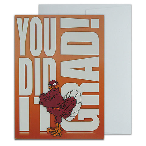 Virginia Tech Hokie Bird Graduation Card