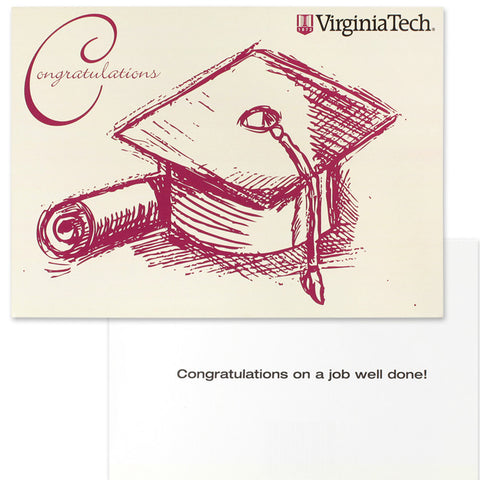 Virginia Tech Graduation Cap Congratulations Card