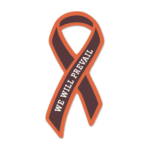 "Maroon and Orange ""We Will Prevail"" Ribbon Decal"