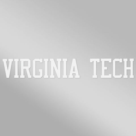 Virginia Tech Strip Decal: White