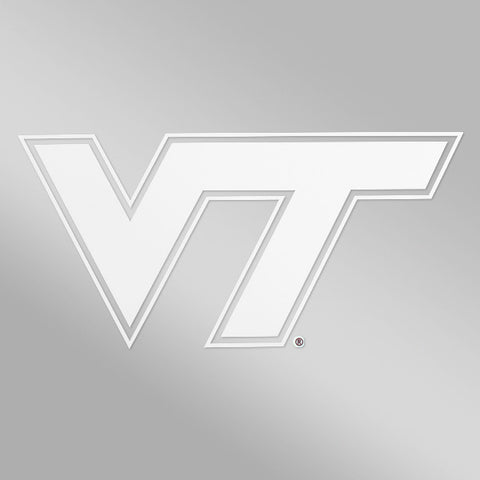 Virginia Tech Logo Decal: White 6""