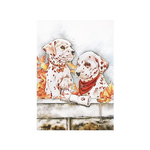 "Virginia Tech ""Pawsitively Hokies"" Print by Jane Blevins"