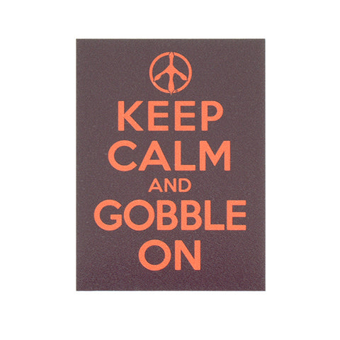 "Maroon and Orange ""Keep Calm and Gobble On"" Decal"