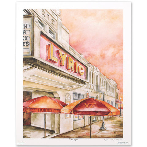 "Virginia Tech ""The Lyric"" Print by Jane Blevins"