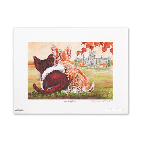 "Virginia Tech ""Purrfect Hokies"" Print by Jane Blevins"