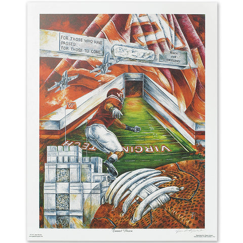"Virginia Tech ""Tunnel Vision"" Print by Jane Blevins"