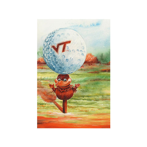 "Virginia Tech ""Fore Hokies"" Print by Jane Blevins"