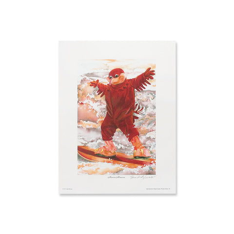 "Virginia Tech ""Maroon Monsoon"" Print by Jane Blevins"