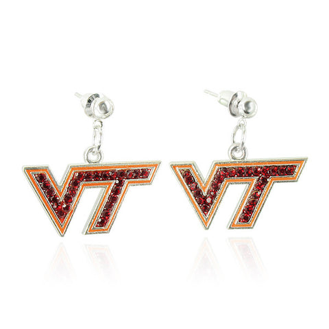 Virginia Tech Crystal Logo Earrings