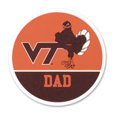 Virginia Tech Family Refrigerator Magnet: Dad